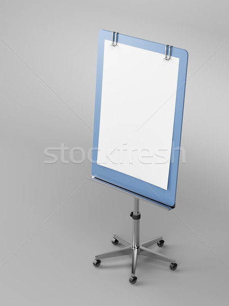 Flip chart on gray  Stock photo © magraphics