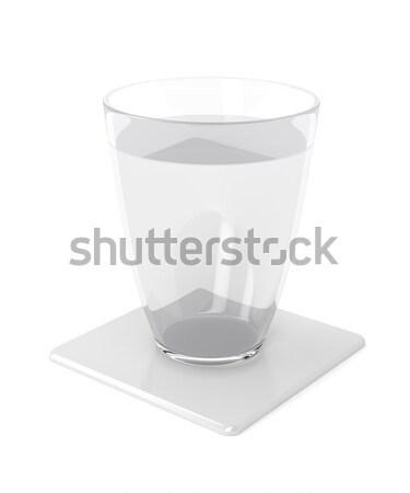 üveg víz fehér műanyag poháralátét sör Stock fotó © magraphics