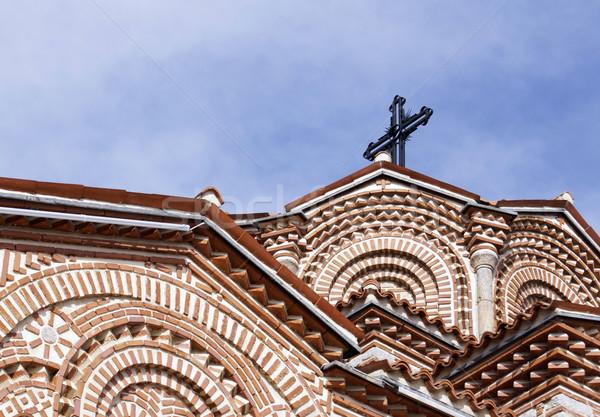 Details of Saint Panteleimon church in Ohrid  Stock photo © magraphics