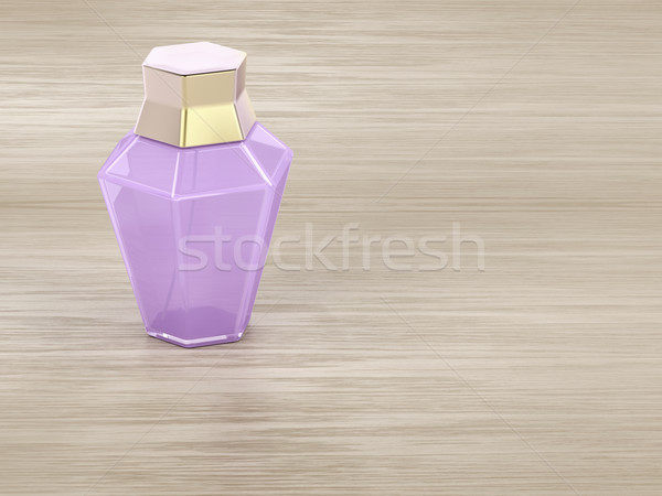Parfum table en bois Homme bouteille bois spray Photo stock © magraphics