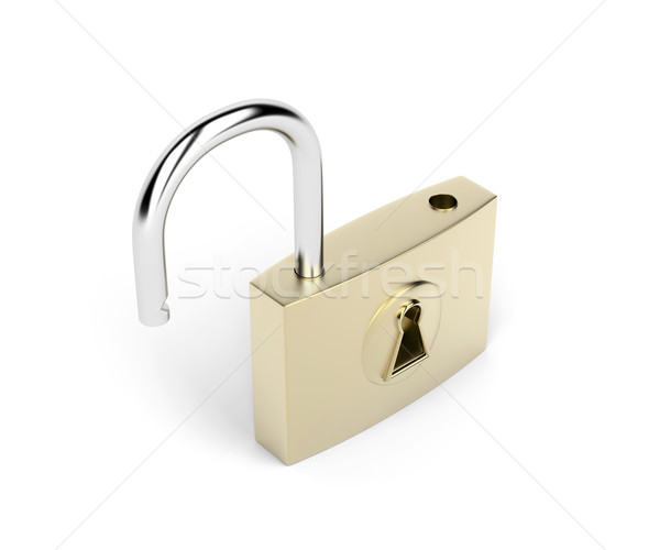 Opened padlock Stock photo © magraphics