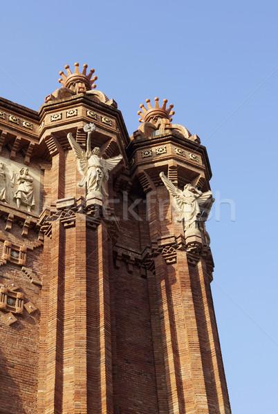 Details boog Barcelona Spanje baksteen Stockfoto © magraphics