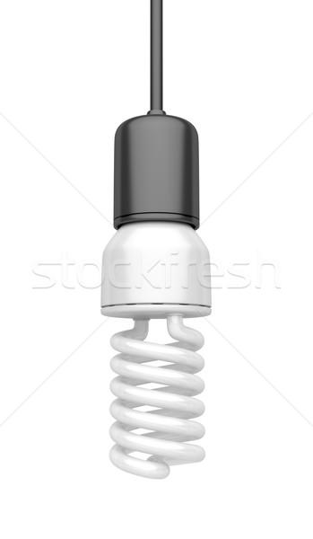 電球 白 孤立した ガラス ランプ 電気 ストックフォト © magraphics