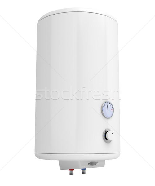 électriques eau chauffage isolé blanche métal Photo stock © magraphics