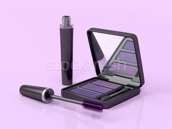 Mascara and eye shadow Stock photo © magraphics