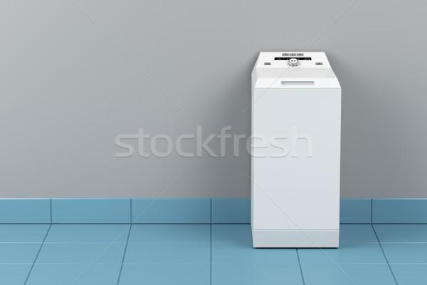 Wasmachine top laden badkamer kamer interieur Stockfoto © magraphics