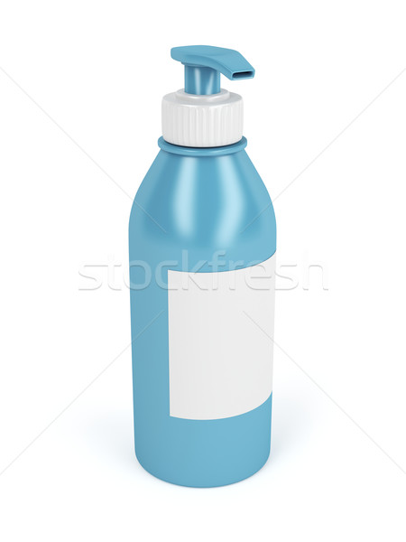 Lotion Flasche pumpen Label weiß Seife Stock foto © magraphics