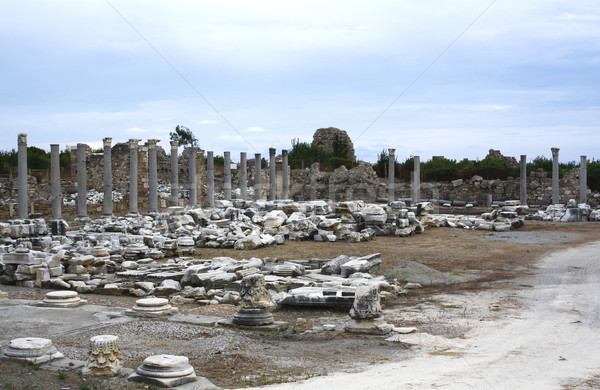 Ruins in Side, Turkey Stock photo © magraphics