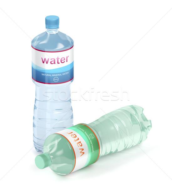 Mineralny wody butelek biały butelki Zdjęcia stock © magraphics