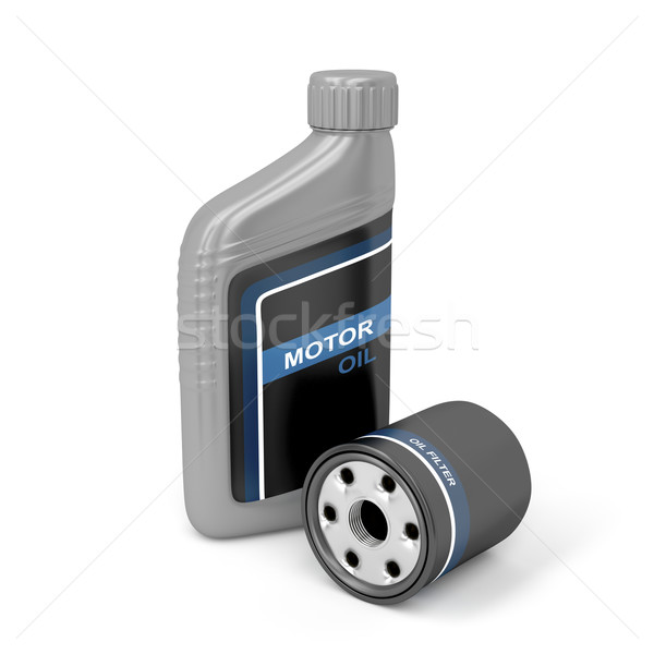 Motor oil and oil filter Stock photo © magraphics