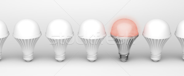 Unique glowing light bulb Stock photo © magraphics