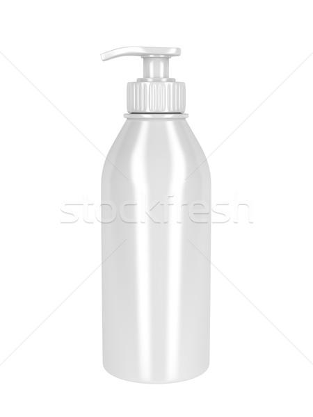 White plastic bottle Stock photo © magraphics
