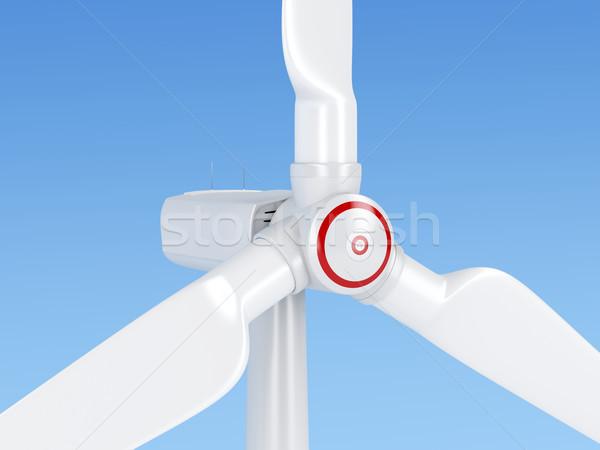 Közelkép szélturbina erő szél elektromosság tiszta Stock fotó © magraphics