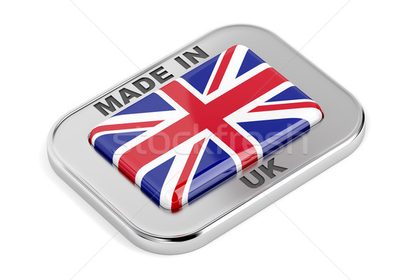 Büyük Britanya rozet beyaz imzalamak düğme etiket Stok fotoğraf © magraphics