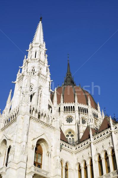 Węgierski parlament budynku szczegóły Zdjęcia stock © magraphics