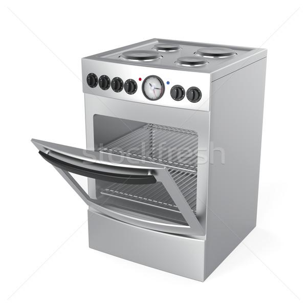 Inox electric stove Stock photo © magraphics