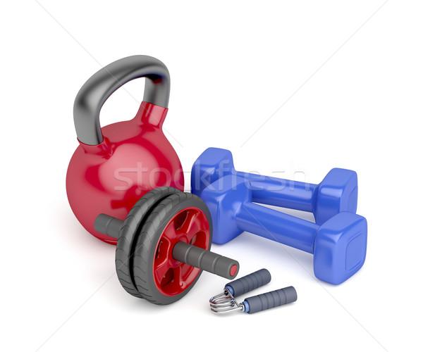 Bodybuilding equipment Stock photo © magraphics