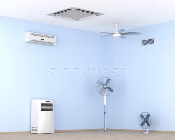 Verschillend elektrische koeling lucht fans Stockfoto © magraphics