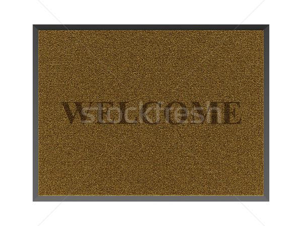 Brown welcome doormat Stock photo © magraphics