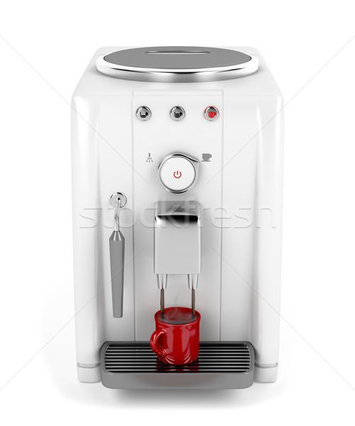 Automatisch espresso machine beker koffie Stockfoto © magraphics