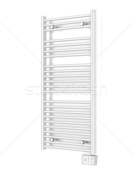 Elektrik havlu radyatör modern banyo beyaz Stok fotoğraf © magraphics