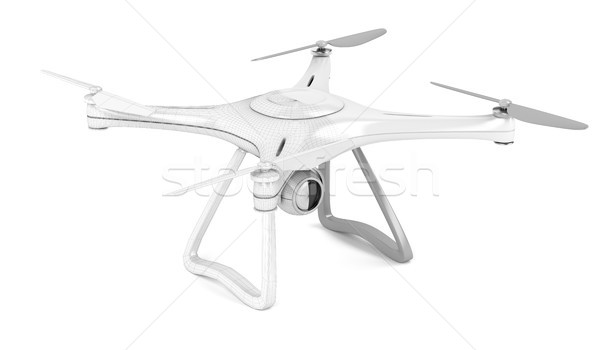 Stock photo: 3D model of drone