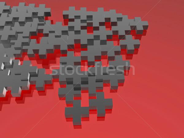 Gris rouge résumé image symboles Photo stock © magraphics