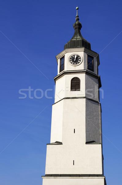 Horloge tour forteresse Belgrade Serbie château Photo stock © magraphics