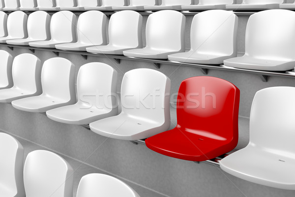 Unique red seat Stock photo © magraphics
