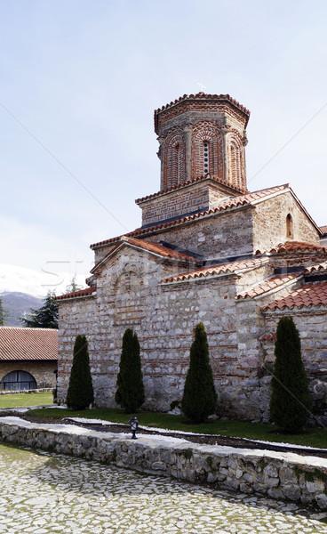 Kolostor szent utazás vallás templom Macedónia Stock fotó © magraphics