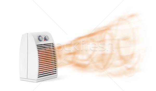 Ventilador aquecedor branco quente ar Foto stock © magraphics