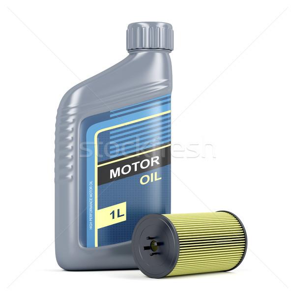 Olio motore olio filtrare bottiglia cartuccia motore Foto d'archivio © magraphics
