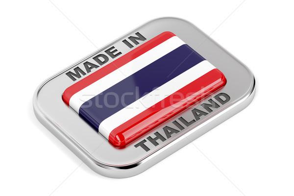 Таиланд серебро Знак белый знак Сток-фото © magraphics