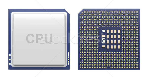 Computer processor isolated on white Stock photo © magraphics