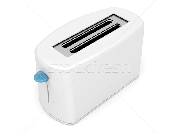 Plastic white toaster Stock photo © magraphics