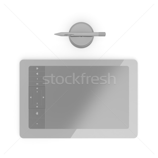 Black graphic tablet Stock photo © magraphics