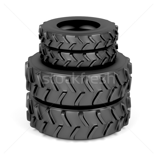 Front and rear tractor tires Stock photo © magraphics