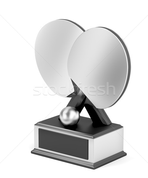 Silver table tennis trophy Stock photo © magraphics