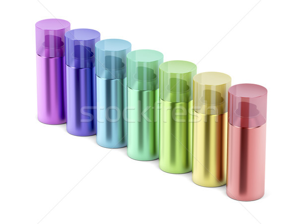 Colorful aerosol spray cans Stock photo © magraphics