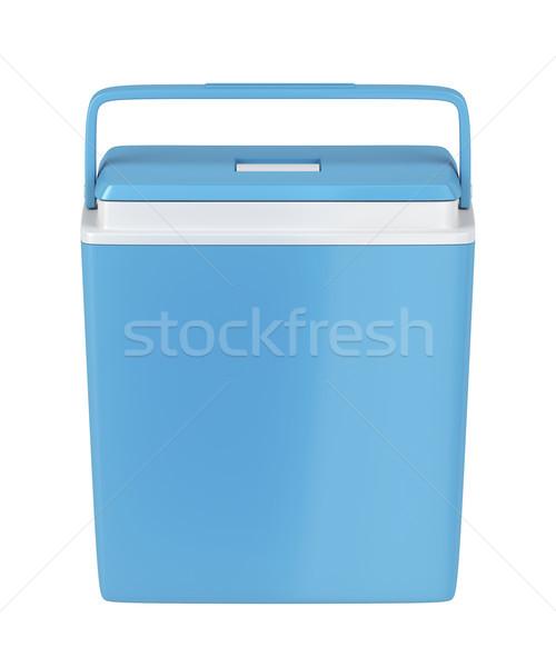 Azul resfriamento caixa isolado branco cerveja Foto stock © magraphics