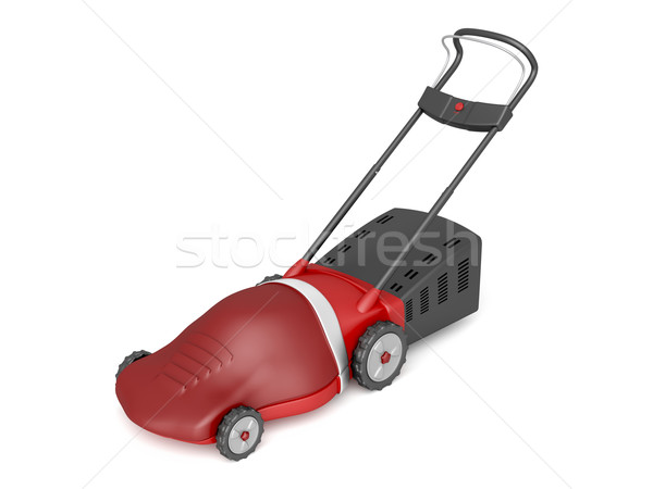 Red electric lawn mower Stock photo © magraphics