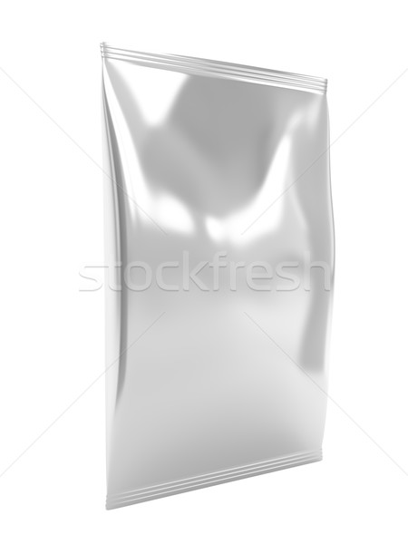 Silver foil bag Stock photo © magraphics