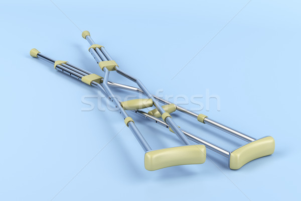 Pair of underarm crutches Stock photo © magraphics