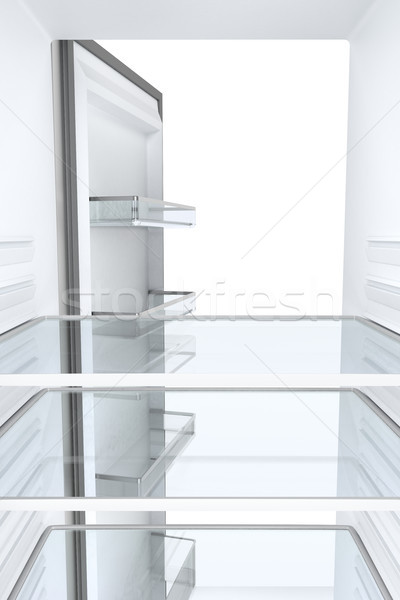 Empty refrigerator, view from inside Stock photo © magraphics