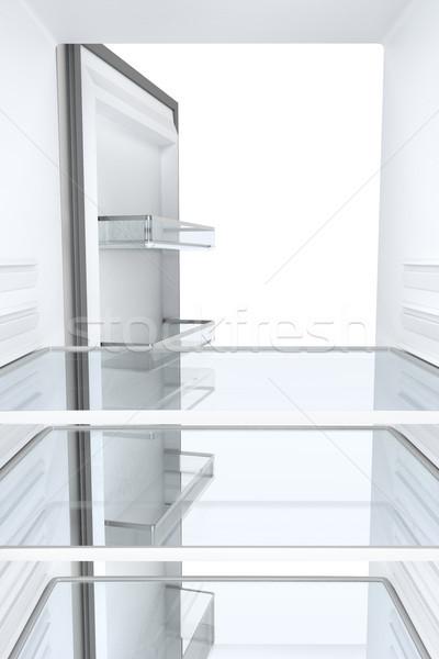 Zdjęcia stock: Pusty · lodówce · widoku · wewnątrz · lodówka