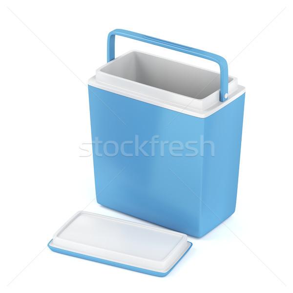 Pusty chłodzenie polu niebieski biały lodu Zdjęcia stock © magraphics