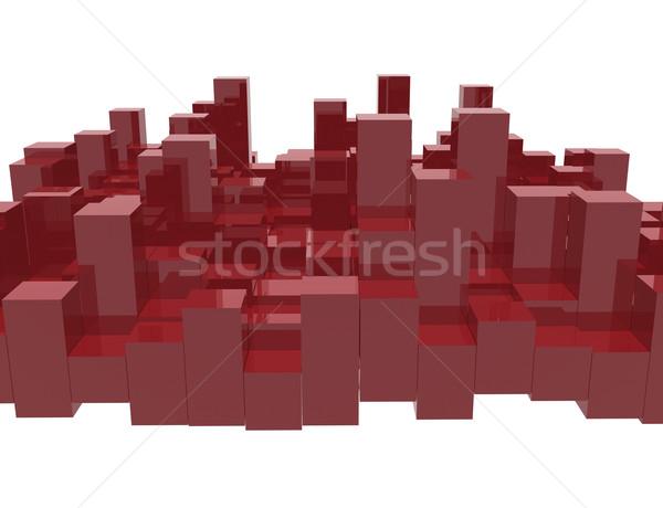 赤 イコライザ バー 抽象的な 3D 画像 ストックフォト © magraphics