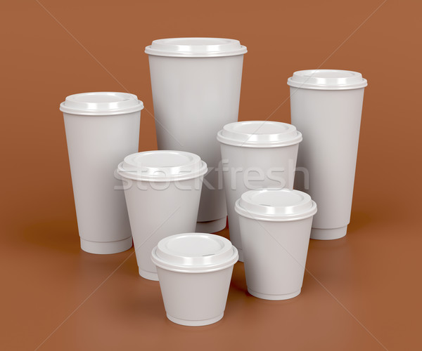 Takeaway coffee cups Stock photo © magraphics