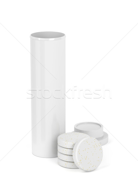 Bottle with vitamins Stock photo © magraphics