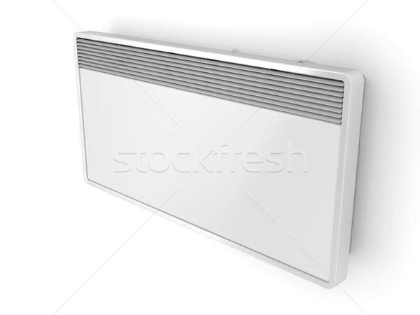 Elétrico painel aquecedor branco parede metal Foto stock © magraphics